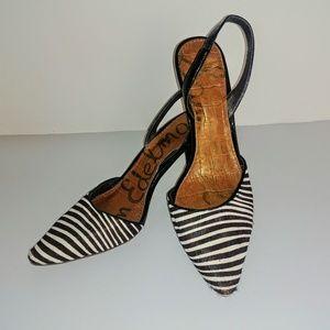 Sam Edelman zebra D'Orsay slingback EUC size 6.5